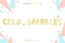 Gold sparkles, Fashion font alphabet
