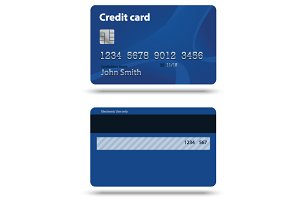 Blue creadit card
