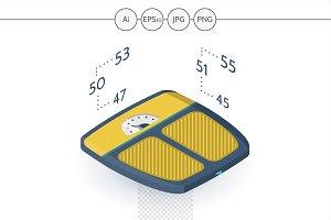 Floor scales isometric web element