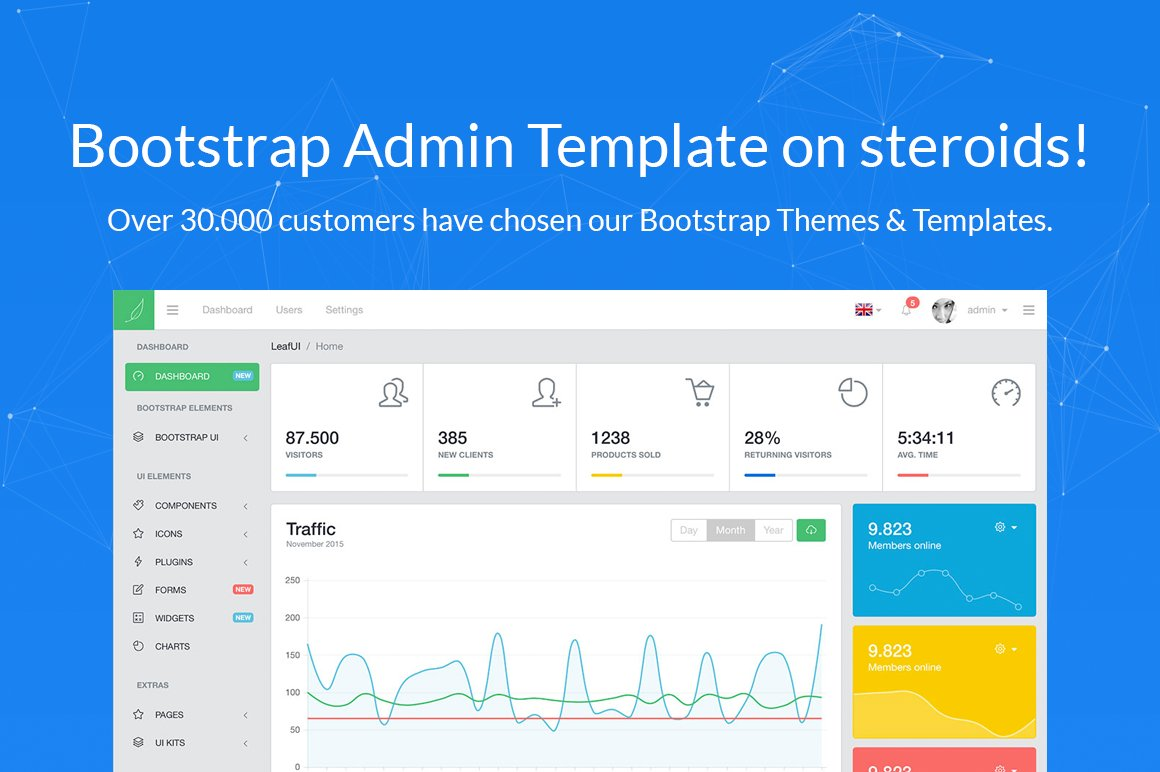 Leafui bootstrap 4 admin template bootstrap themes for Bootstrap admin template free