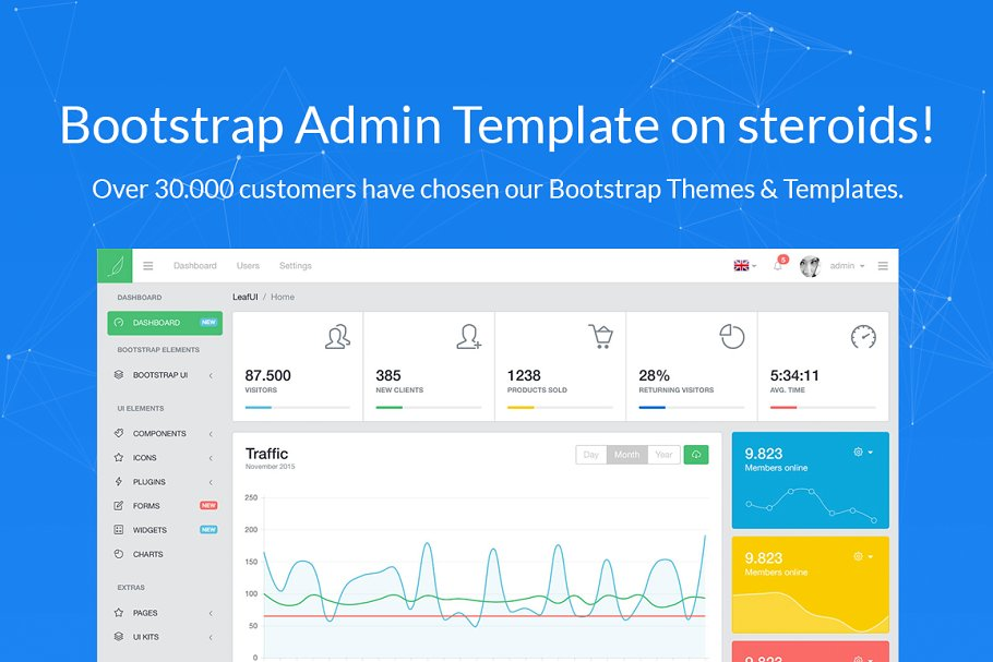 LeafUI Bootstrap 4 Admin Template ~ Bootstrap Themes