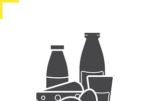 Dairy products icon. Vector