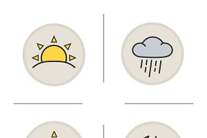 Weather icons. Vector