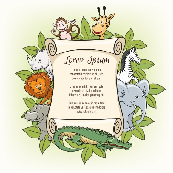 poster template with zoo animals graphics creative market