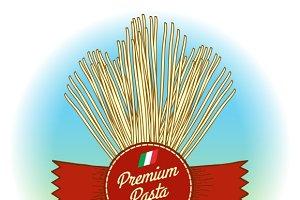 Premium pasta label