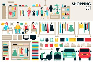 Shopping Flat Objects 9 collections