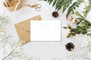 Styled vintage mockup photo