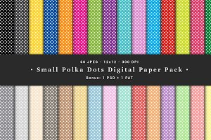 Small Polka Dots Digital Paper Pack