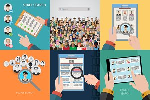 People search vector illustration