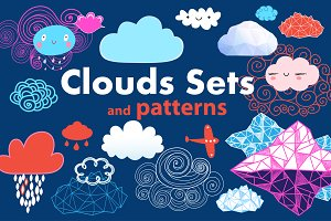 Sets and graphic patterns of clouds