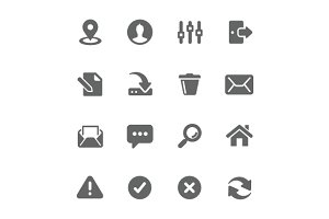 Interface icons.