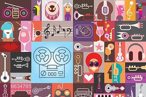 Art Collage Vector Illustration