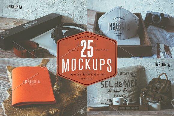 Free 25 Hip Logo Overlay Mock-Ups