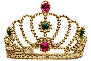 princess crown isolated on white