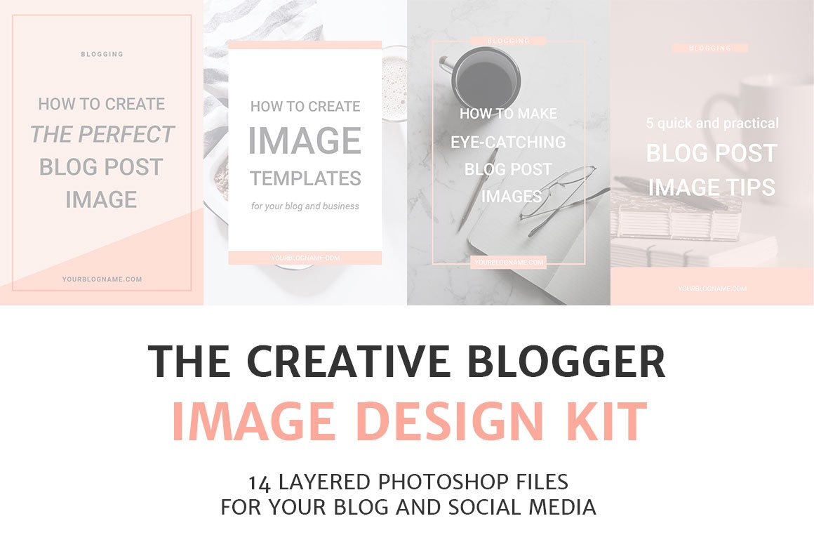 Blog and Social Media Image Kit ~ Pinterest Templates ~ Creative Market