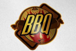 Vintage style BBQ barbecue menu