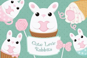 Vector cute Rubbits of Love