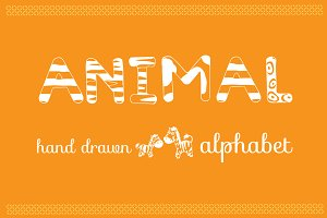 Animals Hand Drawn Alphabet