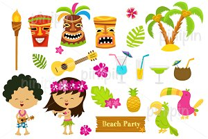 Cute Hawaiian Elements