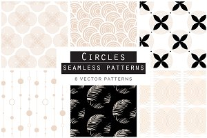 Rose Gold Circles Seamless Patterns
