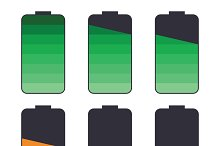 Battery life icon set