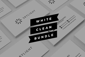 White clean Business Cards Bunlde