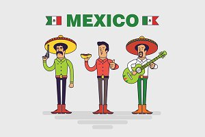 Mexican characters set