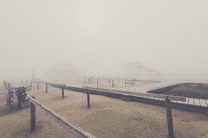 Coastal Fog over Sandy Beach