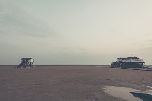 The North Sea Beach in Germany