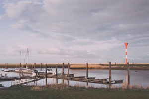 Small Ship Harbor in North Germany