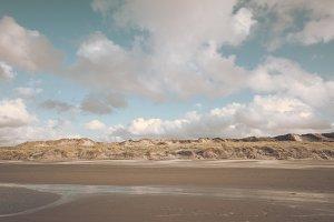 Sunny Beach with sandy Dunes