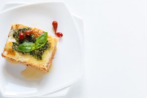 Lasagna with pesto