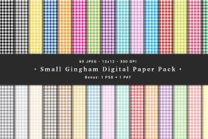 Small Gingham Digital Paper Pack