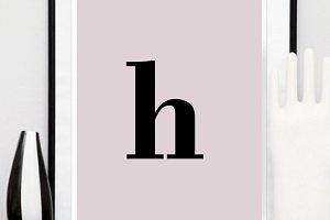 Instant Print Letter Poster