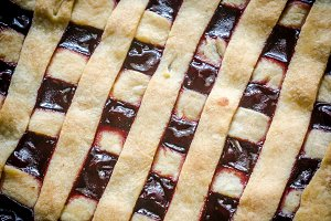 Open cherry pie