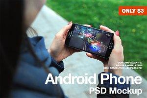 Galaxy S7 PSD Mockup Landscape