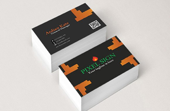 Pixel business card business card templates creative for Business card pixels