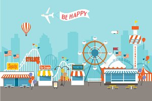 Fair Day  Cute Vector Illustration