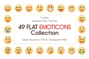 49 Cute Emoticons Collection
