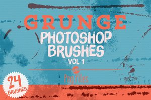 Grunge Photoshop Brushes Vol 1