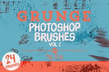 Grunge Photoshop Brushes Vol 2