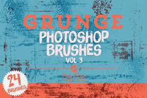 Grunge Photoshop Brushes Vol 3