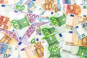 Euro banknotes. Money