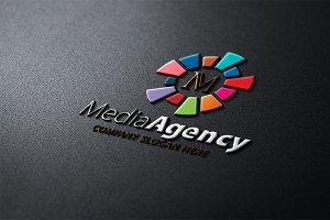 Media Agency M Letter Logo
