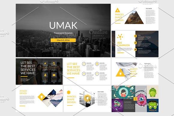 Umak Powerpoint Template Presentation Templates Creative Market