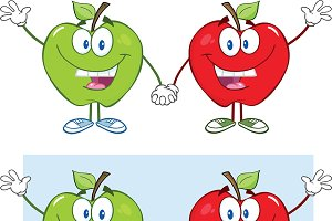 Red And Green Apple Collection - 4
