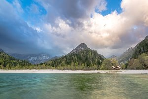Jasna lake in emerald color