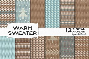 Warm Sweater - Digital Papers