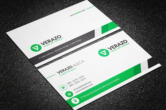 Clean professional business card business card templates clean professional business card business card templates creative market accmission Gallery