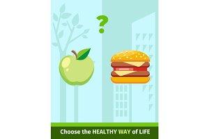 Apple or Burger Food